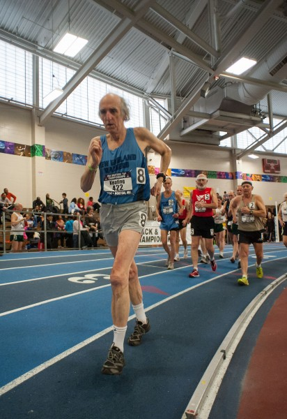 In the M65-94 heat, Bob Keating led the entire race, winning the M65 division in 16:12.43.