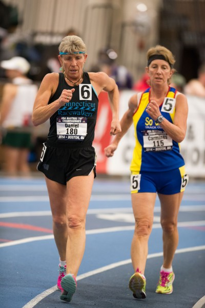Maryanne Daniel of Connecticut set the American W55 record with a time of 16:14.01.