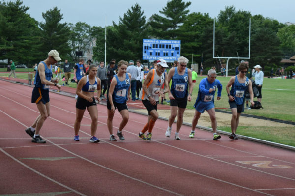 Start of the 2016 Bay State Games 3000m race walk.